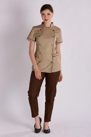 Uniforma bucatar  dama - tunica si pantaloni