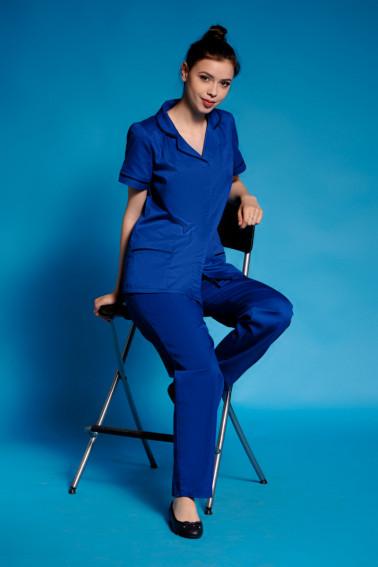 Uniformă curaţenie albastră damă - Curatenie - Davido Design