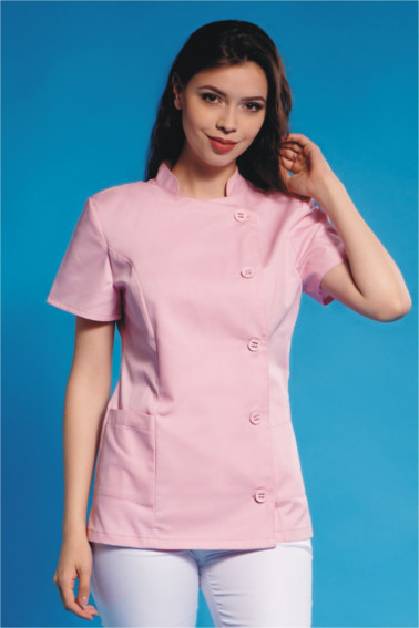 Bluză medicală roz - Medical - Davido Design