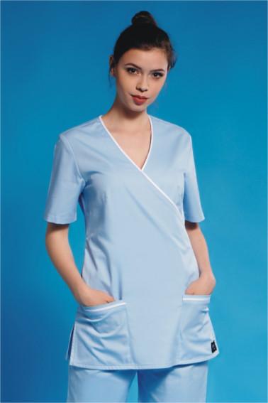 Kimono medical bleu