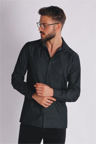 Camasa neagra cu maneca lunga