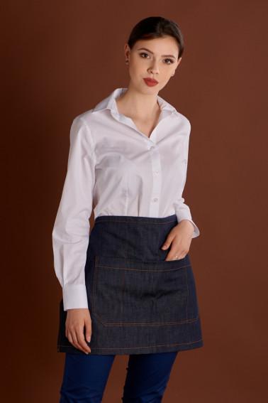 Şorţ jeans scurt cu buzunar - Restaurant - Davido Design