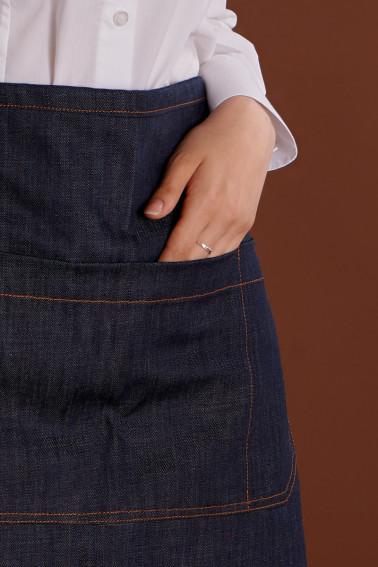 Sort jeans scurt fara pieptar