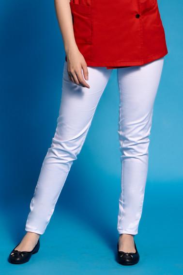 Pantaloni albi casual