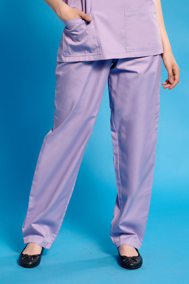 Pantaloni lilac cu elastic