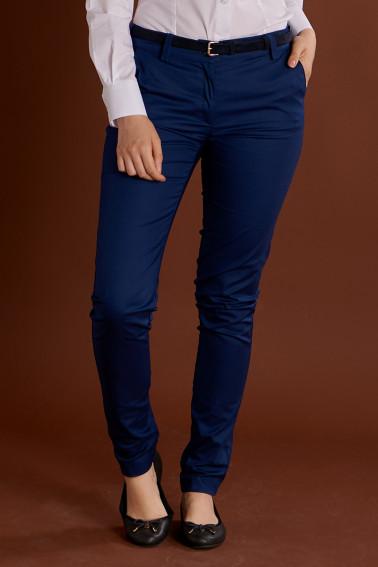 Pantaloni bleumarin casual dama