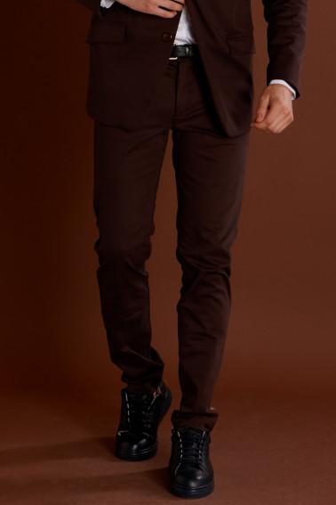 Pantaloni stofa subtire maro
