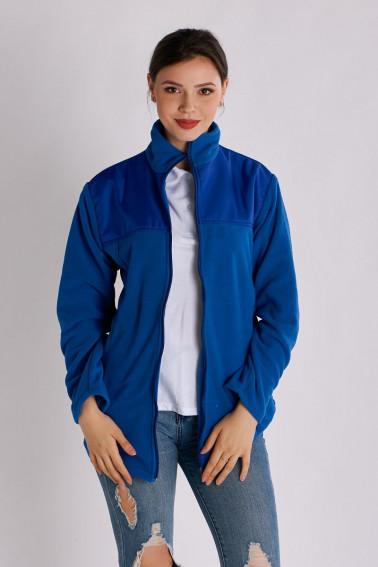 Hanorac fleece dama albastru