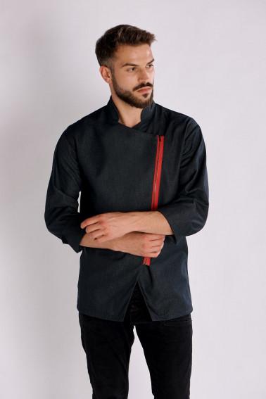 Tunică bucătar jeans cu fermoar - Restaurant - Davido Design