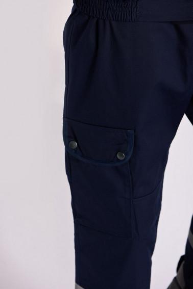 ieftin pantofi eleganti cel mai popular Uniformă pază cu capse bleumarin
