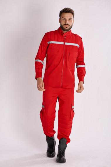 Costum paza rosu