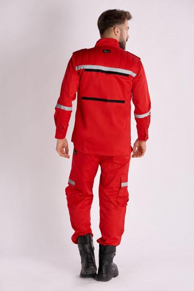 Uniformă pază swat roşie - Pază și protecție - Davido Design