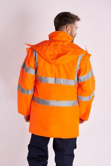Jacheta reflectorizanta portocalie