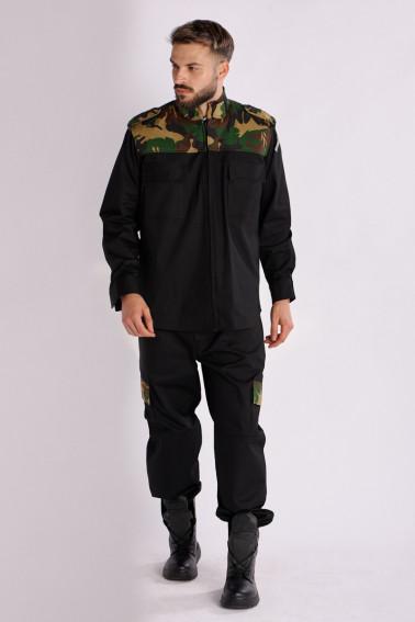 Costum camuflaj / negru