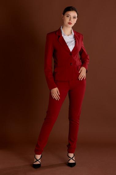 Costum receptie dama rosu