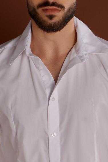 Cămaşă albă cu mânecă lungă - Hotel - Davido Design