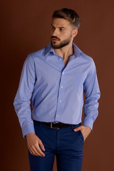 Camasa albastru deschis cu maneca lunga