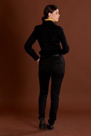Cămaşă neagră damă - Hotel - Davido Design