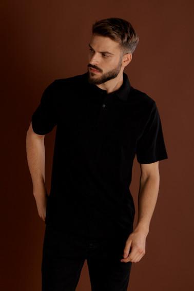Tricou polo negru - Retail - Davido Design