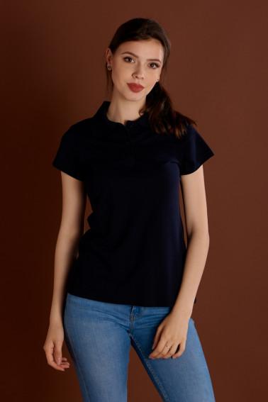 Tricou polo damă bleumarin - Retail - Davido Design