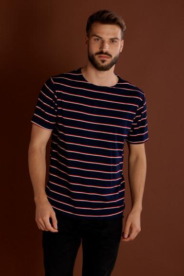 Tricou bleumarin cu dungi - Restaurant - Davido Design