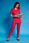 Uniforma medicala dama fucsia